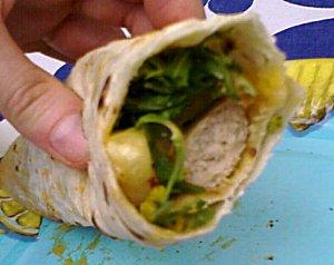Bratwurst-Wrap