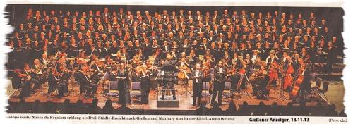 Verdi Requiem at Rittal Arena Wetzar - Gießener Anzeiger Nov 18, 2013